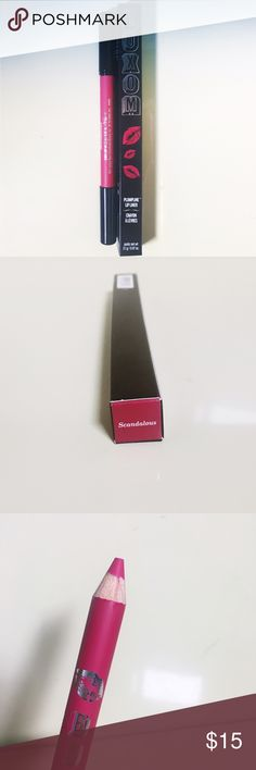 Buxom pumpline lip crayon liner in Scandalous Brand new, unused, and in box Buxom lip liner in Scandalous. A plumping lip liner with versatility to define, shape, and fill in lips—plus, a built-in brush to blend and contour. Buxom Makeup Lip Liner