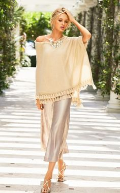 The Margo is the cream of the crop (pant). These metallic gold pants have an elastic back and blind hem, making them perfect for pairing with a tank. Gold wedges and accessories will complete this chic look.