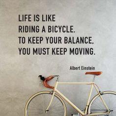 "Wall sticker ""Life is like riding a bike"" a partire da euro 21,90 #Einstein"