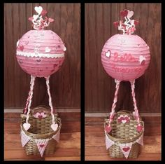 "Hot Air Balloon Valentine Card ""Box"""