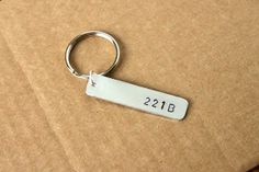 221B  Sherlock Keychain by GeekTags on Etsy
