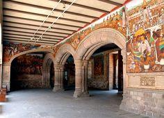 Murales del palacio de gobierno de Tlaxcala, foto encontrada en facebook