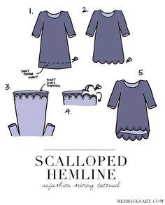 Merrick's Art // Style + Sewing for the Everyday Girl: DIY FRIDAY: SCALLOPED HEMLINE REFASHION