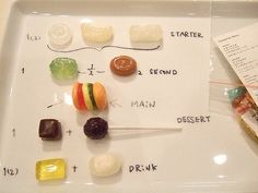 Marti Guixe's project: candy restaurant menu