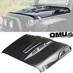 Topfire Hood for Jeep Wrangler, Fiberglass Hood Cover Replacement for JK/JKU Including Rubicon, Sahara and Sport, and (Light Gray) (white) Jeep Wrangler Sahara, Jeep Rubicon, Jeep Jk Accessories, Jeep Wrangler Unlimited Accessories, Jeep Wheels And Tires, 2 Door Jeep, Jeep Truck, Jeep 4x4, Jeep Parts