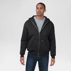 Dickies Men's Heavyweight Quilted Fleece Hoodie Big & Tall Black Xxl Tall, Size: 2XL Tall