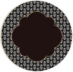 Black Bridal Clover 15 Inch Smooth Spin Lazy Susan
