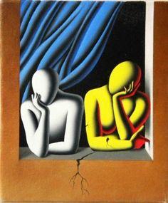"Daily Favorite Listing: ""Fractured 2009 Original Painting, Oil on Canvas by Mark Kostabi Museum Of Contemporary Art, Contemporary Artists, Mark Kostabi, Gallery Of Modern Art, Flash Art, Famous Art, Arte Pop, Italian Artist, Art For Sale"