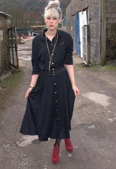 Yellow trim black Maxi from Kissing Cows.