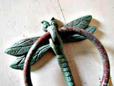 Iron Dragonfly Door Knocker