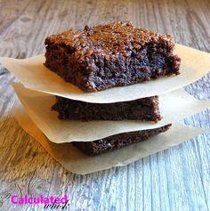 A Calculated Whisk: Salted Caramel Brownies (Gluten-free).  Serve with some vanilla ice cream!