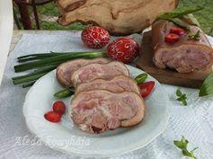 Hozzávalók : 1 füstölt csülök, 2 l savanyú káposztalé, 1 teáskanál egész bors, 1/2 teáskanál szárított csombor, 2 szárított csípőspaprik... Pork, Meat, Easter, Pork Roulade, Beef, Pigs, Pork Chops