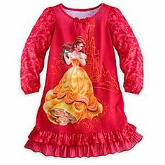 She'll dream tales old as time in Belle's enchanting Disney Store Disney Princess nightshirt. Long cozy sleeves let her be our guest to total comfort throughout the winter season. Disney Princess Dresses, Disney Outfits, Princess Belle, Disney Clothes, Disney Princesses, Little Girl Outfits, Toddler Girl Outfits, Baby Girl Fashion, Kids Fashion
