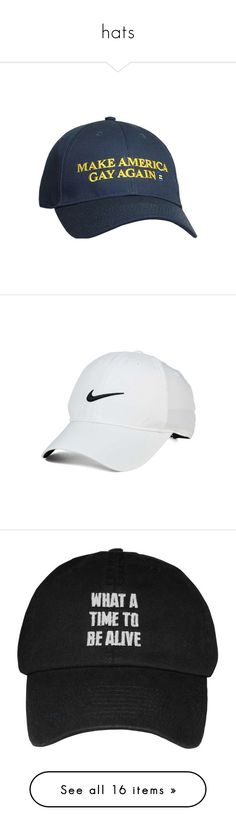 """""""hats"""" by s-adkids ❤ liked on Polyvore featuring accessories, hats, headwear, nike golf cap, nike golf, cap hats, nike golf hats, caps, head and white hat"""