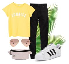 """Summer"" by lerazhihareva on Polyvore featuring мода, Yves Saint Laurent, MANGO, adidas Originals, Ray-Ban и Mi-Pac"