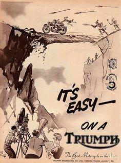 Vintage Triumph Poster