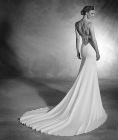 Nacer - Robe de mariée sirène au dos orné de pierres fines