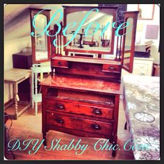 Lovely dresser before painting, why not join a workshop!  www.diyshabbychic.com