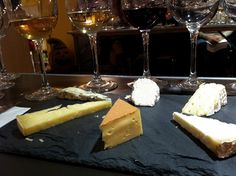 the cheeses, starting at Noon(ish, under the red wine): Hoja Santa, Green Hill, San Andreas, Grayson, Gravity Hill, Rogue River Blue
