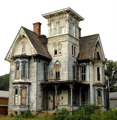 Second Empire Victorian homes have a ton of character. This is probably why most people think of them as haunted houses.