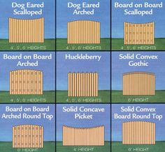 Project Plan Decorative Privacy Fences Includes 9 Designs. Prints set: $19.95  This plan includes a variety of attractive design options to create a beautiful fence, designed to ensure privacy.  9 Different Designs  Gate Designs Included  Fence Height Options Included #garden fence #fence #gate #DIY