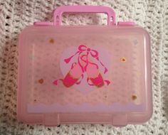 SANRIO Ballet Slippers 1990s Clear Box Handle Pencil Case