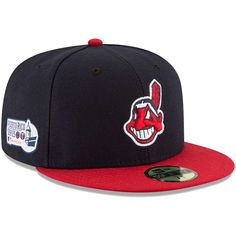 4384d125c9 Cleveland Indians New Era Home Puerto Rico Series Authentic Collection  59FIFTY Fitted Hat - Navy Red
