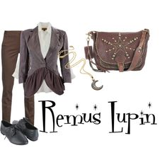 So not gonna lie, Professor Lupin has an awesome sense of style. Nerd Outfits, Cool Outfits, Fashion Outfits, Womens Fashion, Harry Potter Style, Harry Potter Outfits, Disney Themed Outfits, Disney Dresses, Remus Lupin