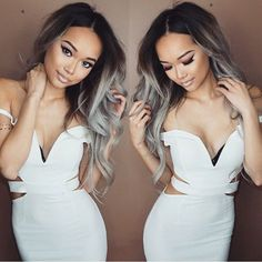 (Buy here: http://appdeal.ru/20b9 ) T1B/Grey Virgin Brazilian Ombre Hair Body Wave Dark 1b root Gray hair weaving 3pcs/lot soft brazilian virgin hair ombre for just US $117.00