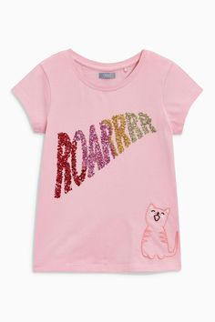 Buy Pink Sequin Slogan T-Shirt (3-16yrs) from the Next UK online shop