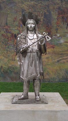Chief Cornstalk Statue ~ Point Pleasant ~ West Virginia ~ Chief Cornstalk was… Native American History, Native American Indians, Native Americans, Shawnee Indians, Point Pleasant West Virginia, West Virginia History, Mothman, Mountain States, First Nations