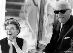 Katharine Hepburn and Spencer Tracy laugh it out on the set of Guess Who's Coming to Dinner 1967