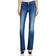 Hudson Love Bootcut Jeans in Supervixen ($198) ❤ liked on Polyvore featuring jeans, supervixen, hudson jeans, blue denim jeans, blue jeans, hudson bootcut jeans and faded blue jeans