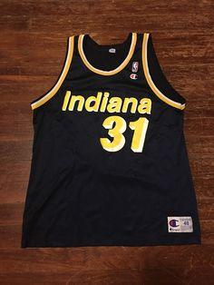 Champion NBA Basketball Indiana Pacers Reggie Miller #31 Jersey   | eBay