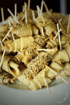 Roulés de crêpes de Bretagne, de blé noir et froment pour un mariage par La table Bretonne.Photos : http://www.linstant-precieux-photographies.com/