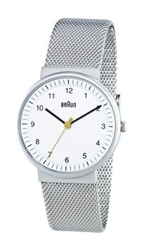 Braun has re-issued its line of classic watches designed by Dieter Rams and Dietrich Lubs from the 1970s