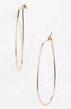 Nordstrom Oval Hoop Earrings   Nordstrom