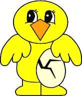 chick paper craft