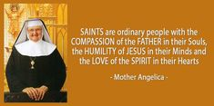 After founding EWTN in 1981 and serving as an on-air host for two decades of live programs, Mother Angelica left behiind a treasury of wit and wisdom. Blessed Mother Mary, Mother Teresa, Catholic Saints, Roman Catholic, Mother Angelica, Catholic Quotes, Religious Quotes, Praying The Rosary, Religious Pictures