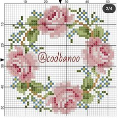 Cross Stitch Tattoo, Cross Stitch Rose, Cross Stitch Flowers, Cross Stitching, Cross Stitch Embroidery, Hand Embroidery, Modern Cross Stitch Patterns, Cross Stitch Designs, Cross Stitch Collection