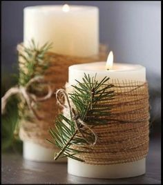 8 Minutes Simple Christmas Candles Decoration – Christmas Decorations – Christmas crafts for gifts Christmas Candle Decorations, Christmas Candles, Thanksgiving Decorations, Thanks Giving Table Decorations, Christmas Decorations Diy Crafts, Winter Decorations, Christmas Table Settings, New Years Decorations, Holiday Tables