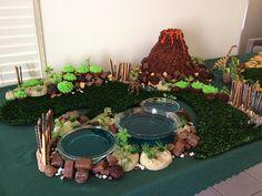 Saffron Threads: A Prehistoric Celebration Dinosaur Party, Dinosaur Birthday, 5th Birthday, Birthday Cakes, Kids Party Themes, Birthday Party Decorations, Party Ideas, Mountain Cake, Saffron Threads