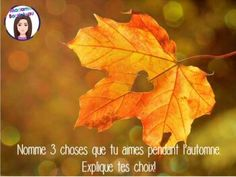 Questions pour écrire au quotidien AUTOMNE - Daily French Journal Prompts FALL Orange And Purple, Pink Blue, Fall Photos, Begonia, Nature Wallpaper, Bokeh, Brown And Grey, Black White, Plant Leaves