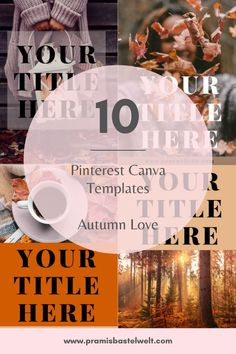 Get your Pinterest Marketing on a higher level, with these beautiful and editable Canva Templates! Grab your package today!