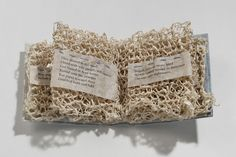 Knitted Book by Aimee Lee #paper_crafting #book_arts