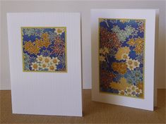 Chiyogami cards - set of four blank cards with envelopes *momiji print*