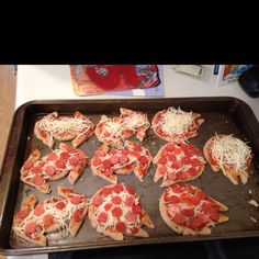 Star Wars mini pizzas for kids birthday party! They were easy to make and so awesome.