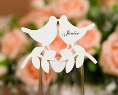50x Love Birds Place Cards For Wedding Bomboniere Favors,Vintage,DIY,Multicolor