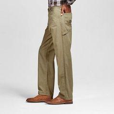 Wrangler Men's Relaxed Fit Carpenter Jeans - British Khaki 42x30