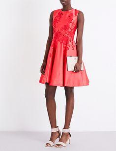 KAREN MILLEN Floral fit-and-flare dress
